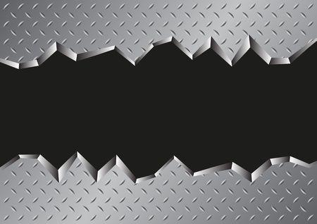 jagged metal background Vector illustration.