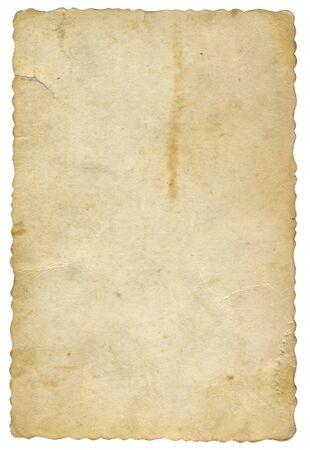 Photo pour old yellowed card of paper - image libre de droit