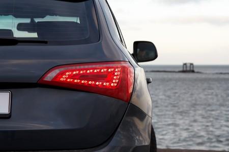 Luxury SUV rear light closeup