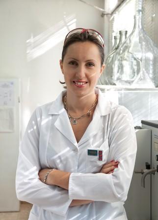 portrait of a beautiful scientist woman