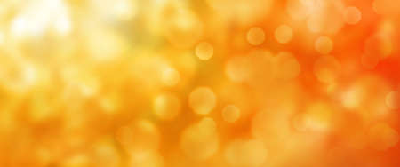 Photo for Abstract orange golden bokeh texture. Horizontal background for a seasonal concept design with space for text. - Royalty Free Image