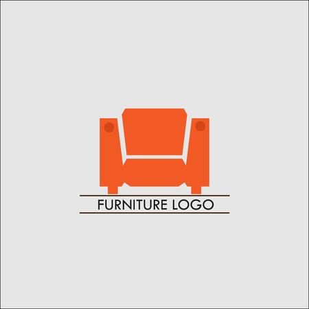 Furniture Logo template. Furniture icon. Furniture store logo. Furniture design. Furniture isolated. Sofa isolated. Sofa interior. Sofa icon