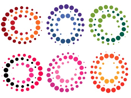 Collection of colored dot symbols - illustration