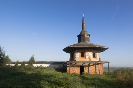 Watch Tower Trinit-Gledeny Monastery. Village Morozovitsa Veliky District, Vologda Region, Russia