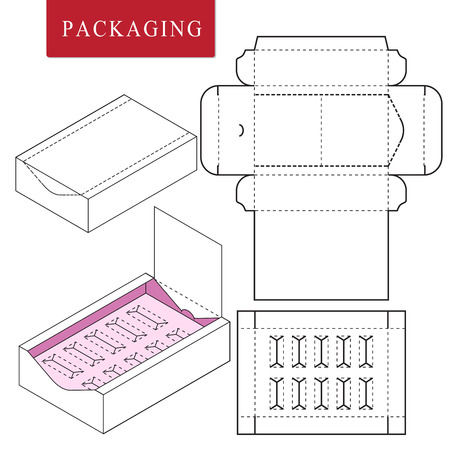 Illustration pour Package on package (PoP). Packaging for cosmetic or skincare product. - image libre de droit