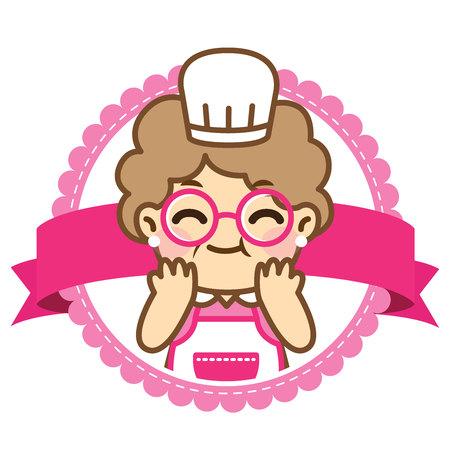 Vektor für Grandmother is cooking.Cute style.Vector design set. - Vector - Lizenzfreies Bild