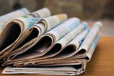 Foto de Newspapers on the table - Imagen libre de derechos