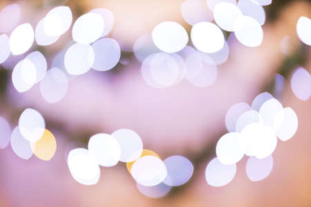 Foto de Beautiful view of colorful blurred abstract shiny Christmas lights. - Imagen libre de derechos