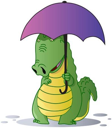 A cute crocodile