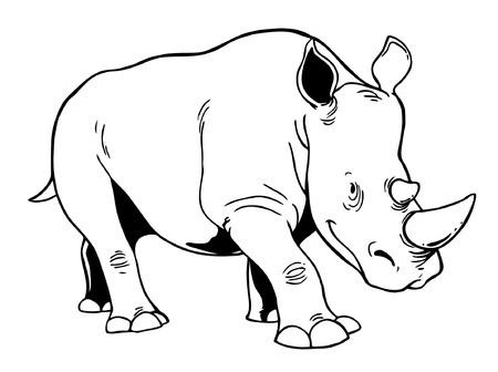 Ilustración de White Rhinoceros - Imagen libre de derechos