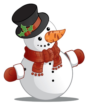 Snowman with the black cylinder