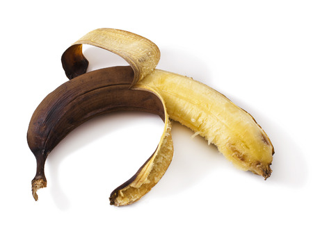 overripe banana isolated on white banana
