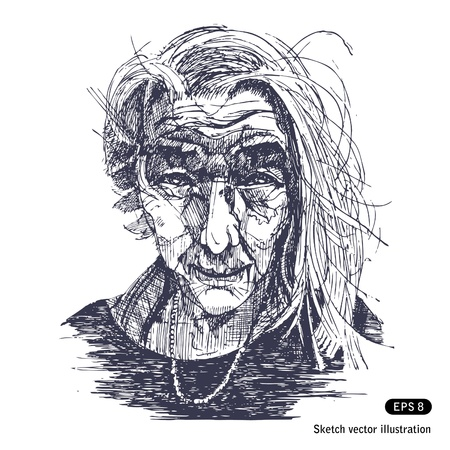Portrait of a smiling old woman