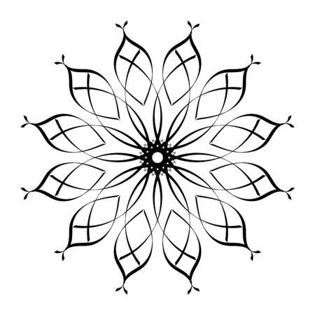 Ilustración de Decorative frame for ornament and design.A template for printing postcards, invitations, books, for textiles, engraving, wooden furniture, forging. Vector. - Imagen libre de derechos