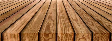 Photo pour Brown wooden striped table top texture background - image libre de droit