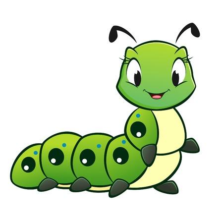 Foto de Cartoon vector cute caterpillar  - Imagen libre de derechos