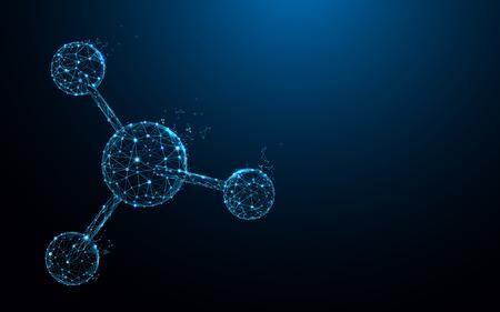 Photo pour Molecular structure form lines, triangles and particle style design. Illustration vector - image libre de droit