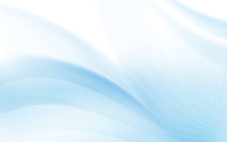 Illustration pour Abstract blue wavy with blurred light curved lines background - image libre de droit