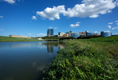Foto für View of Downtown Fort Worth from the Trinity River - Lizenzfreies Bild