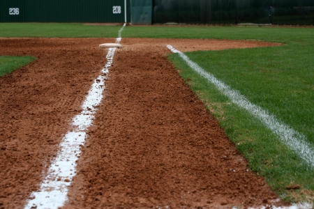 Baseball Field First Base Line