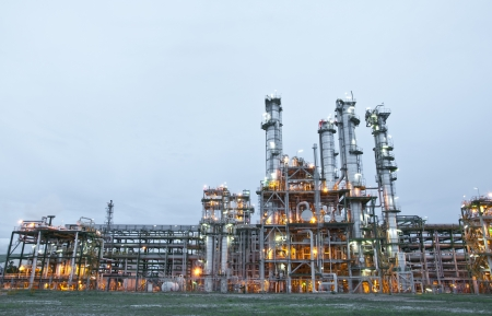 Morning scene of chemical plant , Maptaphut industrial , Eastern of Thailand