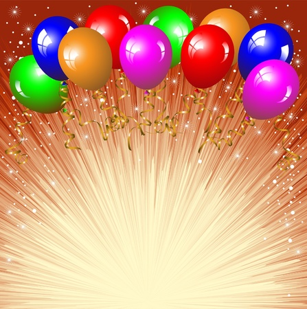 Festive background with colorful balloons.
