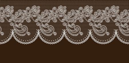 vector lace elements.