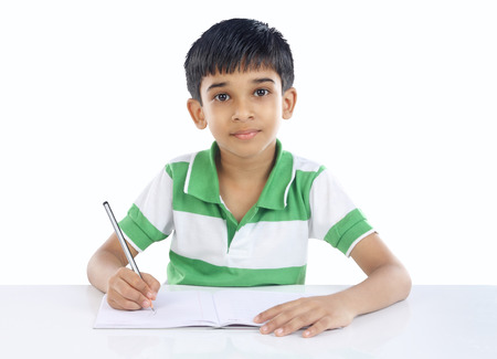 Photo for Indian School Boy Posing to Camera - Royalty Free Image