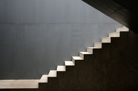 isolate stairs outdoor of a modern building