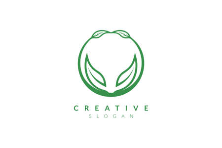 Illustration for Vector design leaf various abstract shape. Minimalist leaf design, flat logo style, modern icon and symbol - Royalty Free Image