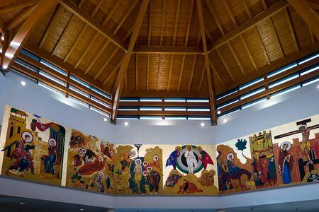 Foto per Church interior Holy Family Church of Nazareth in Troina Enna, Sicily - Immagine Royalty Free
