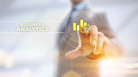 Photo pour Business analytics intelligence analysis BI big data technology concept. - image libre de droit