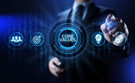 Photo pour Core values responsibility Company Ethical Business concept. - image libre de droit