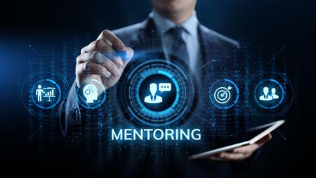 Photo pour Mentoring Coaching Training Personal development and education concept. - image libre de droit