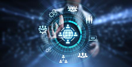 Photo pour Outsourcing Global Recruitment Business and internet concept. - image libre de droit