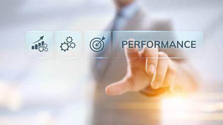 Photo pour KPI key performance indicator increase optimisation business and industrial process. - image libre de droit