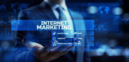 Photo for Internet marketing online advertising dashboard business technology concept on screen. - Royalty Free Image
