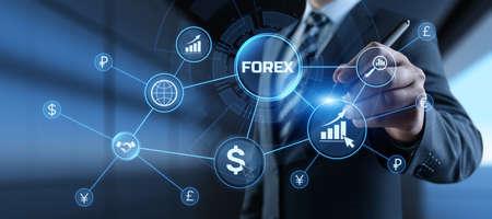 Photo pour Forex currencies exchange stock market trading investment concept on screen. - image libre de droit