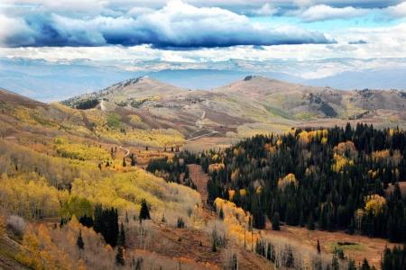 Top of the mountains between Brighton Ski Resort and Park City Utah