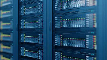 Photo pour modern computer server racks at data center - image libre de droit