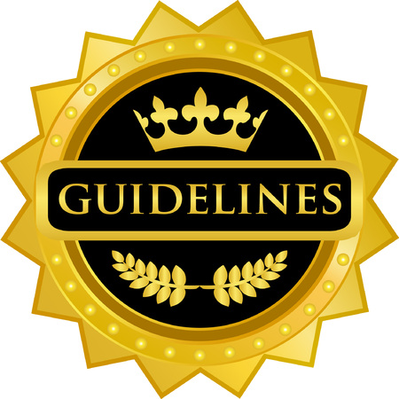 Guidelines text on  Gold Badge Icon