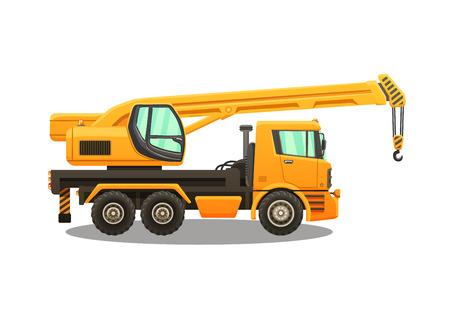 Ilustración de Detailed vector illustration of truck crane. - Imagen libre de derechos
