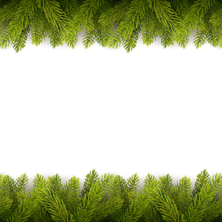 Illustration pour Vector eps10 isolated seamless background with realistic Christmas tree. - image libre de droit