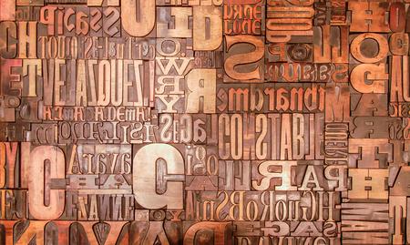 Foto de Alphabet print letters characters mirrored - Imagen libre de derechos