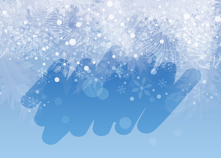 Illustration for Winter frosted window background. Freeze and wind at the glass. 10 eps - Royalty Free Image