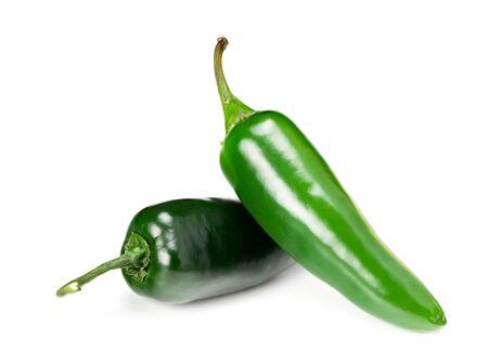 Foto für Jalapeno chile pepper isolated on white background Capsicum annuum fruits - Lizenzfreies Bild