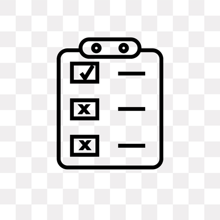 Create list button vector icon isolated on transparent background, Create list button logo concept