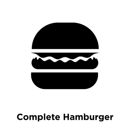 Illustration pour Complete Hamburger icon vector isolated on white background, logo concept of Complete Hamburger sign on transparent background, filled black symbol - image libre de droit