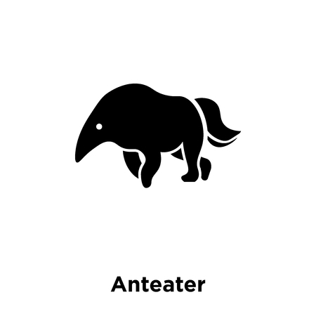 Illustration pour Anteater icon vector isolated on white background, logo concept of Anteater sign on transparent background, filled black symbol - image libre de droit