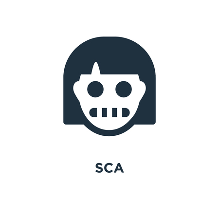 Scared icon. Black filled vector illustration. Scared symbol on white background. Can be used in web and mobile.